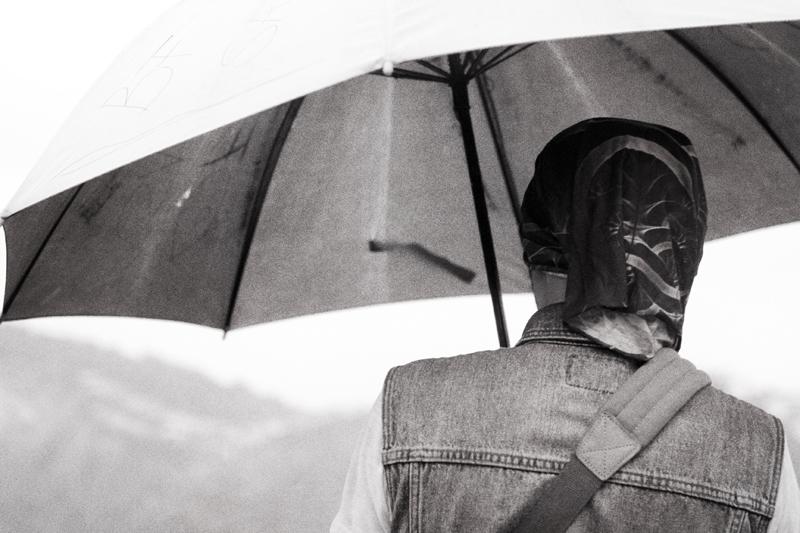 grainy umbrella