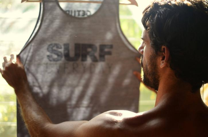 13 questions to Marcos Pereira, the owner of the 'Get Up Stand Up' surf school and Clothing store