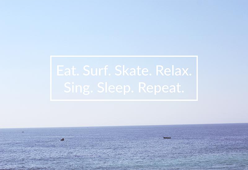 Free Surf Maroc: Eat. Surf. Skate. Relax. Sing. Sleep. Repeat.