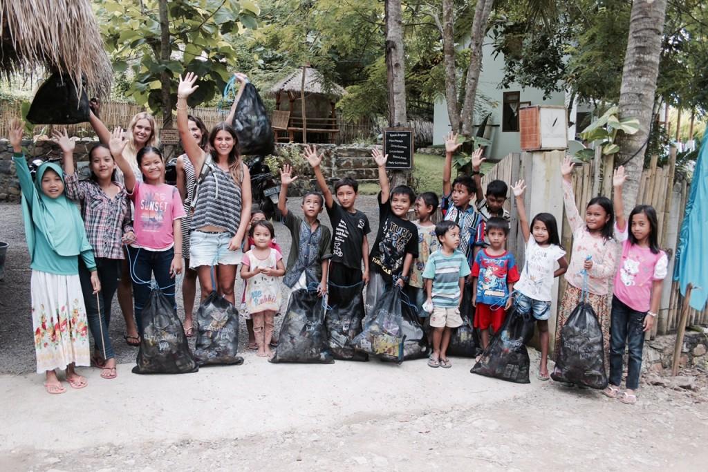 Elisa und ihre Kinder von der Kidsfoundation